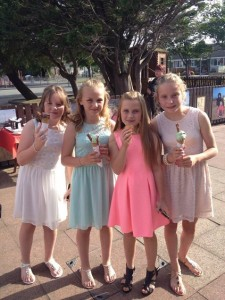 Girls enjoying icecream